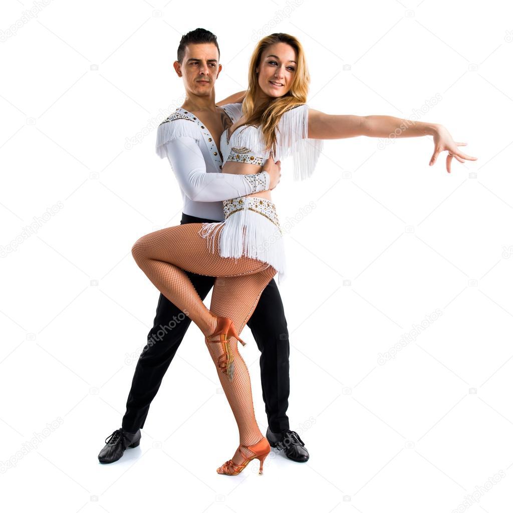 Dos personas bailando sobre fondo aislado foto de stock for Jacuzzi para dos personas