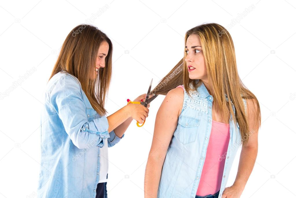 Fotos van meisjes schaar