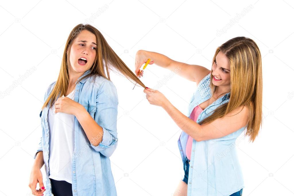 fotos van meisjes schaar enorme Ebony tit pics