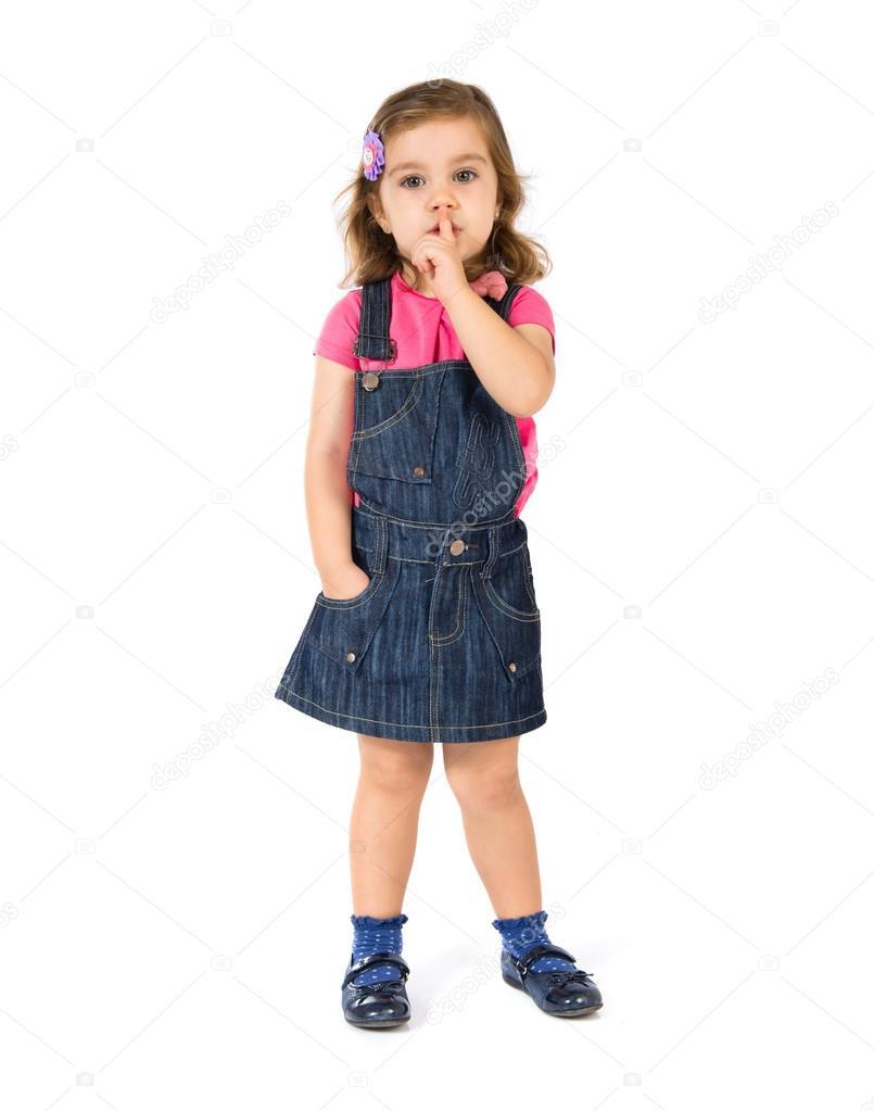 dziecko co gest ciszy na bia ym tle zdj cie stockowe luismolinero 59032537. Black Bedroom Furniture Sets. Home Design Ideas