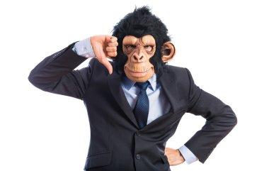 Monkey man doing bad signal