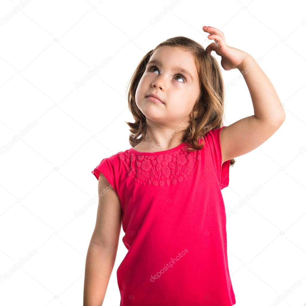 kid thinking � stock photo 169 luismolinero 85503368
