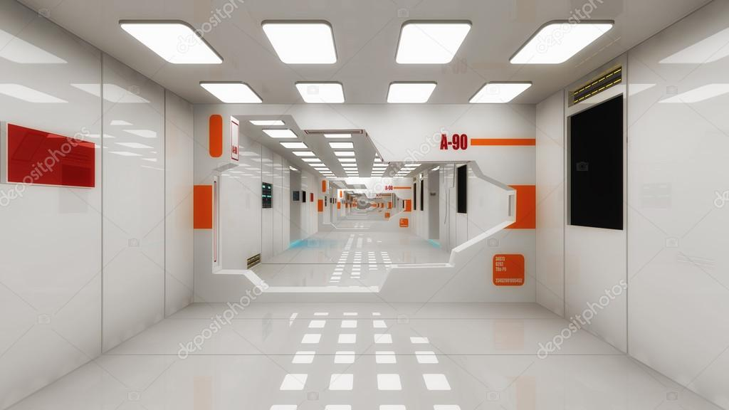 Futuristische 3d Interieur — Stockfoto © mik38 #120290034