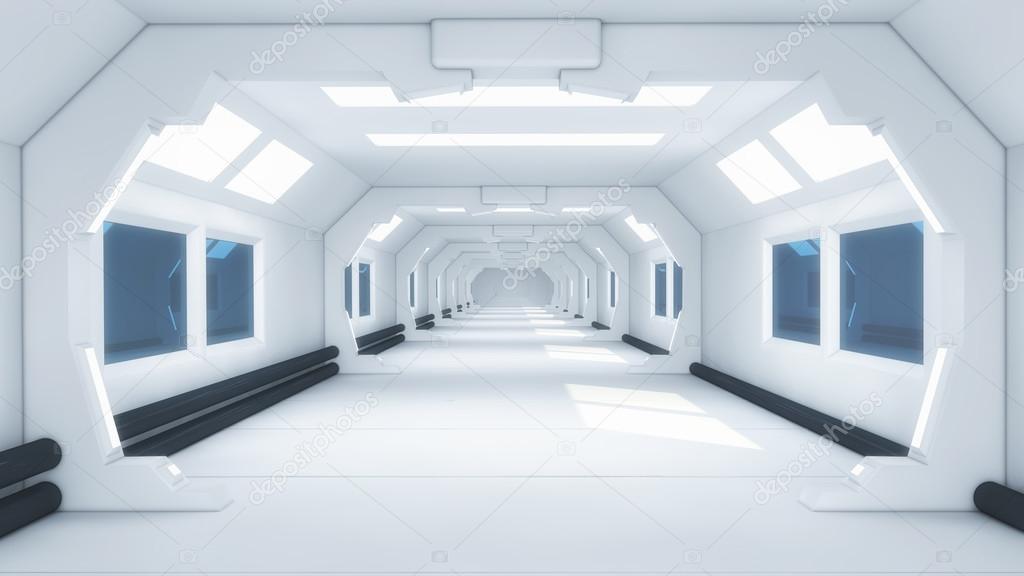 Futuristische 3d Interieur — Stockfoto © mik38 #120290112