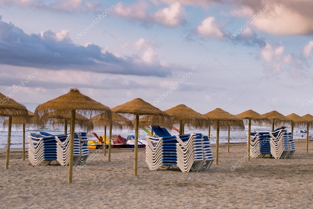 Hammocks and beach umbrellas