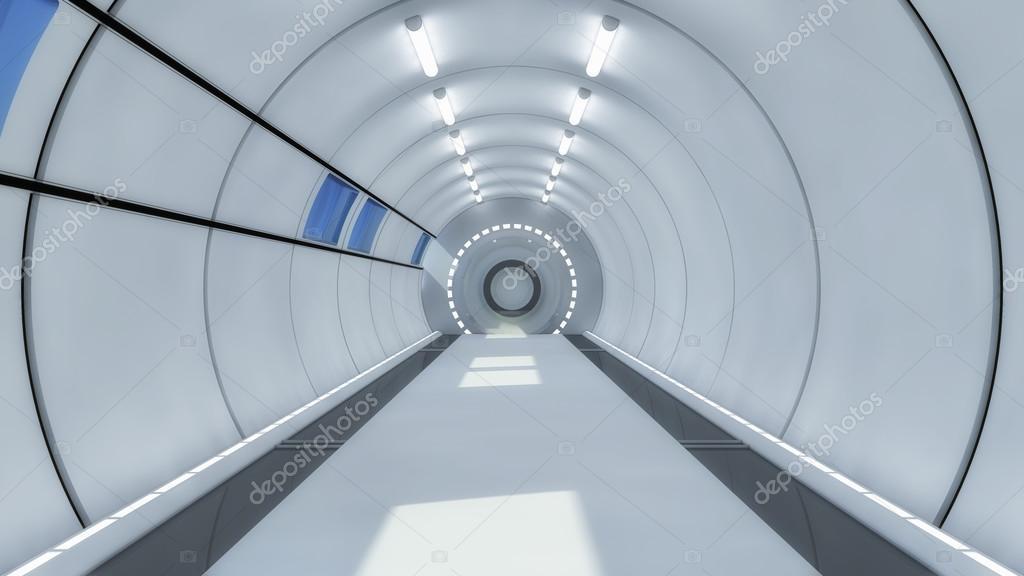 Design intérieur concept futuriste couloir — Photographie mik38 ...