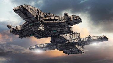 3d UFO ship