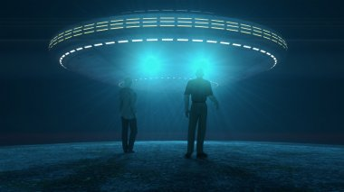 Ufo attacking and abducting humans.