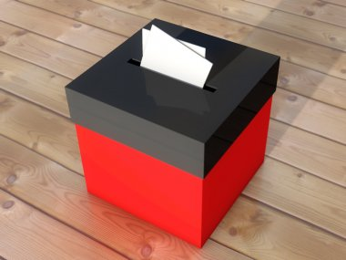 A red sugestion box