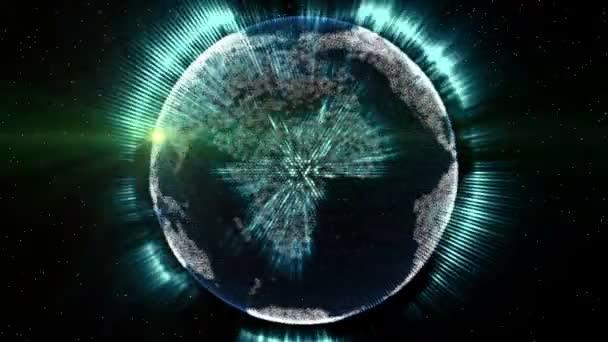 Zářící světlo šíří po zemi