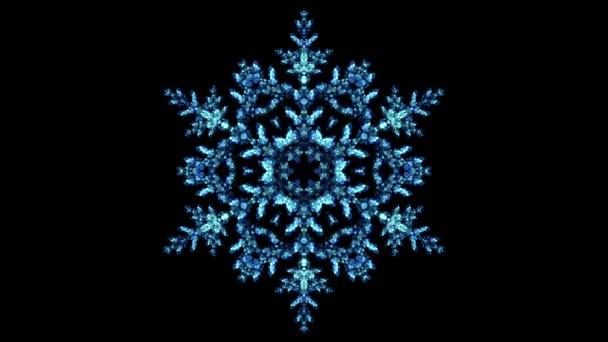 Csillogó kék karácsony Téli hópehely fények Bokeh hurok