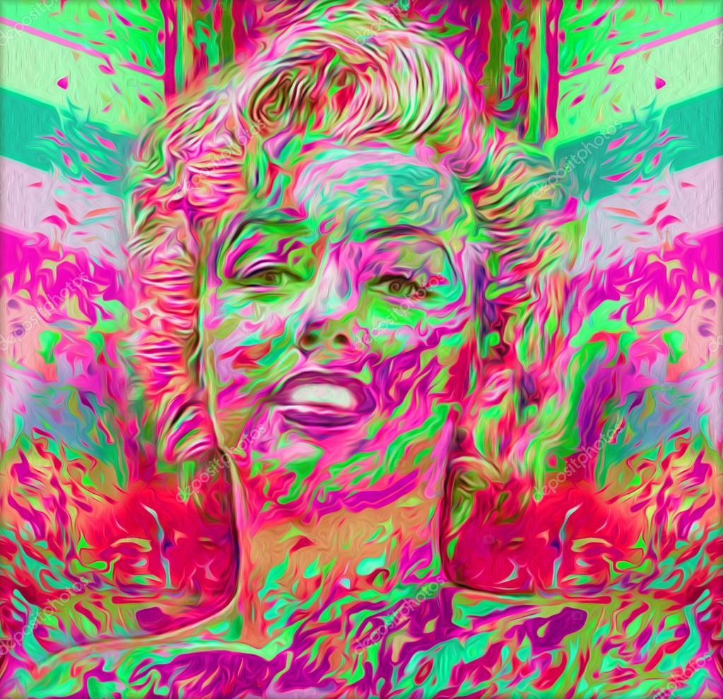 Immagine di arte moderna digitale del volto di una donna for Piani di fattoria moderna piccoli