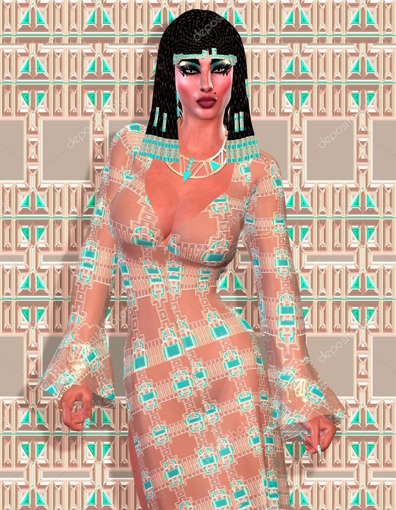 Cleopatra of Egypt! Our modern digital art Egyptian fantasy version