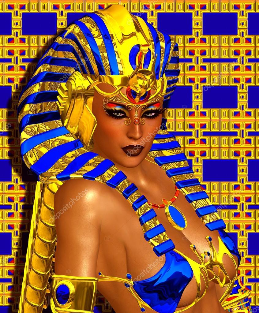 Cleopatra or any Egyptian Woman Pharaoh. Modern digital art fantasy with Egyptian styles.
