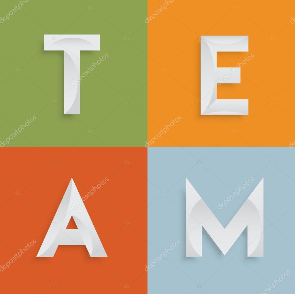 Team\' vier-Buchstaben-Wort für websites — Stockvektor © Seby87 ...