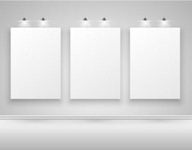 Blank white billboards