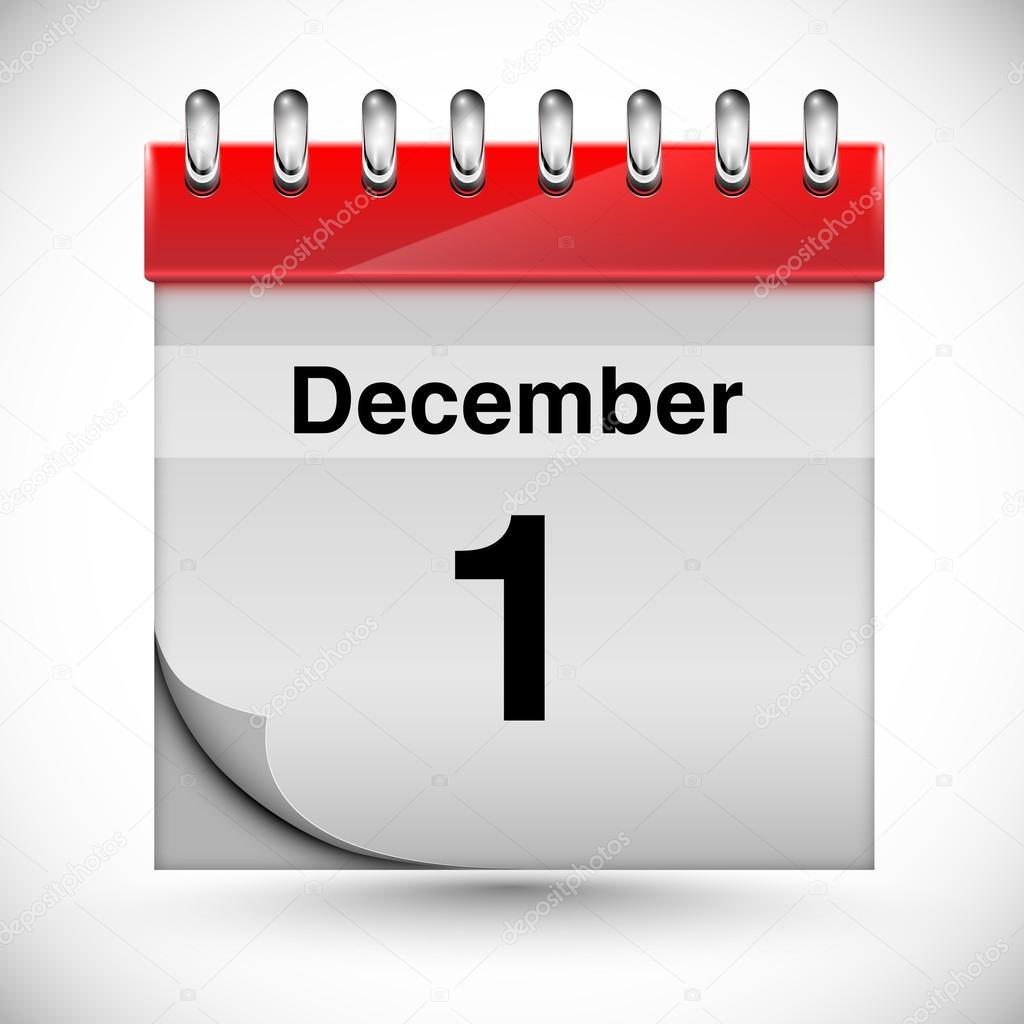 Page Calendrier.Page Du Calendrier De Decembre Image Vectorielle Seby87