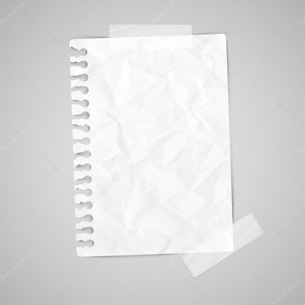 Briefpapier Mit Klebeband Beispiel Stockvektor Seby87 62360053