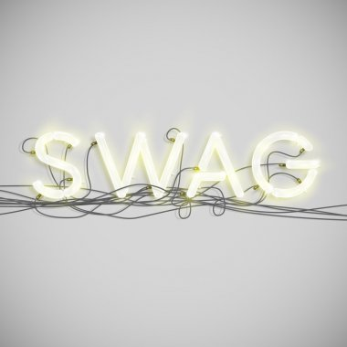 Swag sign with wires