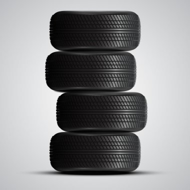 Realistic automobile tires