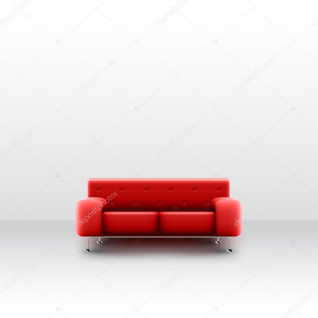 Rote Couch Auf Weiß Stockvektor Seby87 96367844