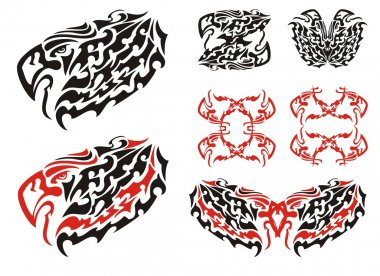 Tribal eagle symbols and eagle frames