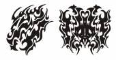 Fotografia Testa tribale del drago e drago farfalla tatuaggio