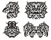 Fotografia Elementi di Drago tribale
