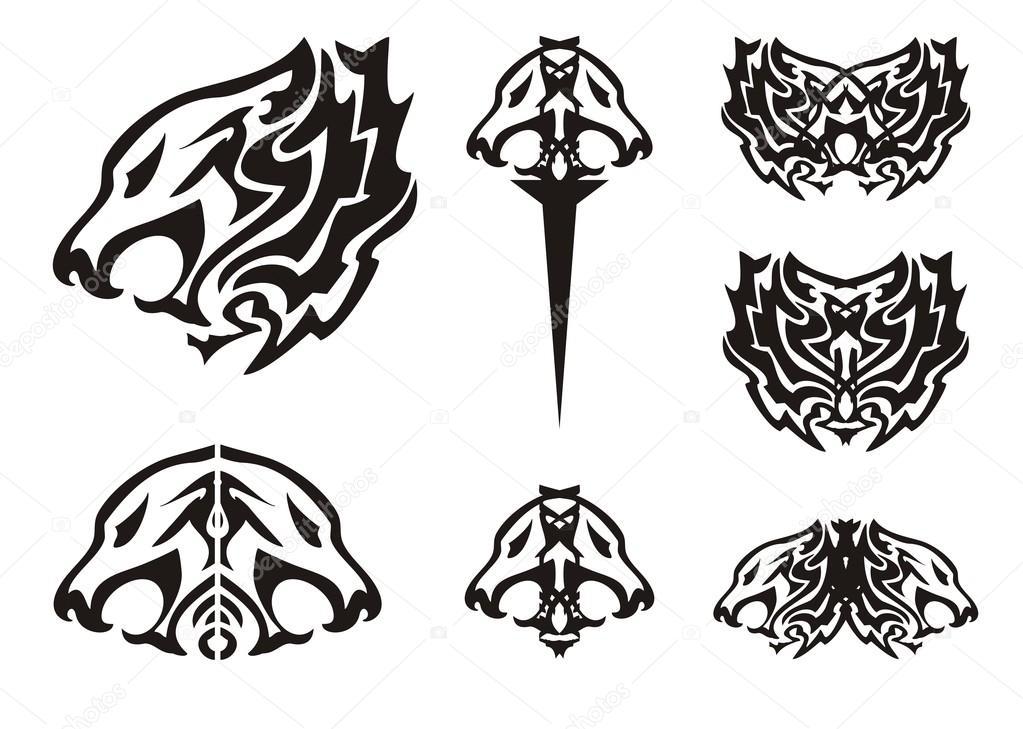 Fotos Leon Tribales Cabeza De León Tribales Tatuajes De Símbolos