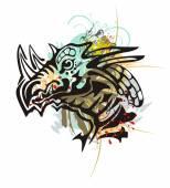 Fotografia Spruzzi di testa di Drago tribale