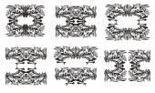 Fotografia Simboli tribali del drago. Nero su bianco
