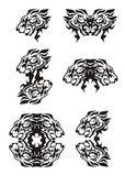 Photo Tribal flaming lion head symbols