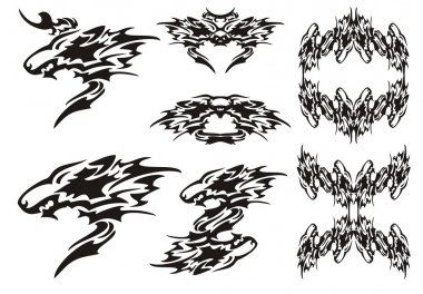 Tribal wolf symbols tattoos and wolves frames