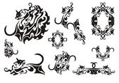 Photo Tribal cat symbols