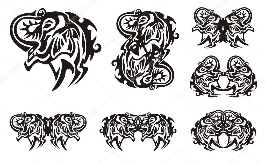 Fotos Elefantes Tribales Cabeza De Elefante Tribales Símbolos