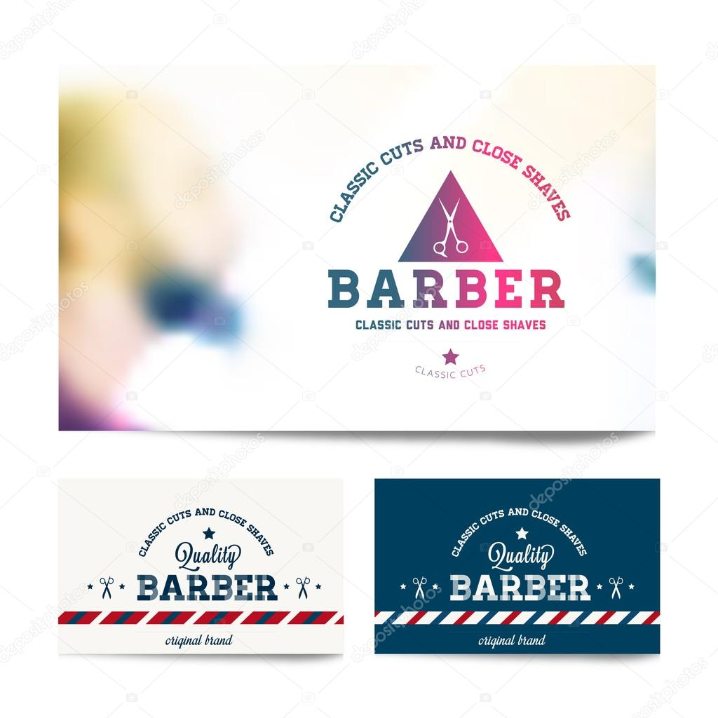Barber shop business card template stock vector snowflakedesign barber shop business card template stock vector fbccfo Images