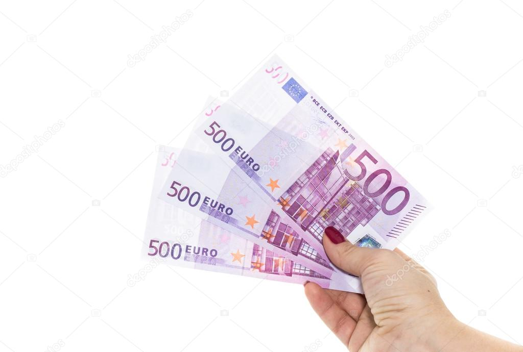 Euro bankovky 500 euro bankovek ruka dr c pen ze m na - Stock piastrelle 2 euro ...