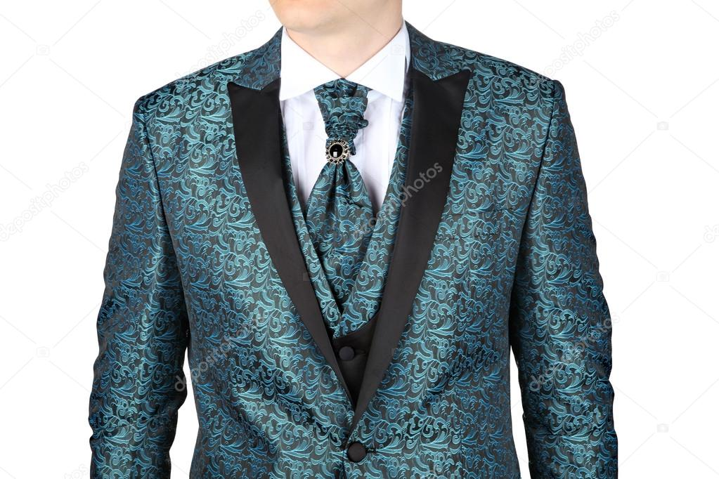 Men\'s wedding suit with floral patterned — Stock Photo © grigvovan ...