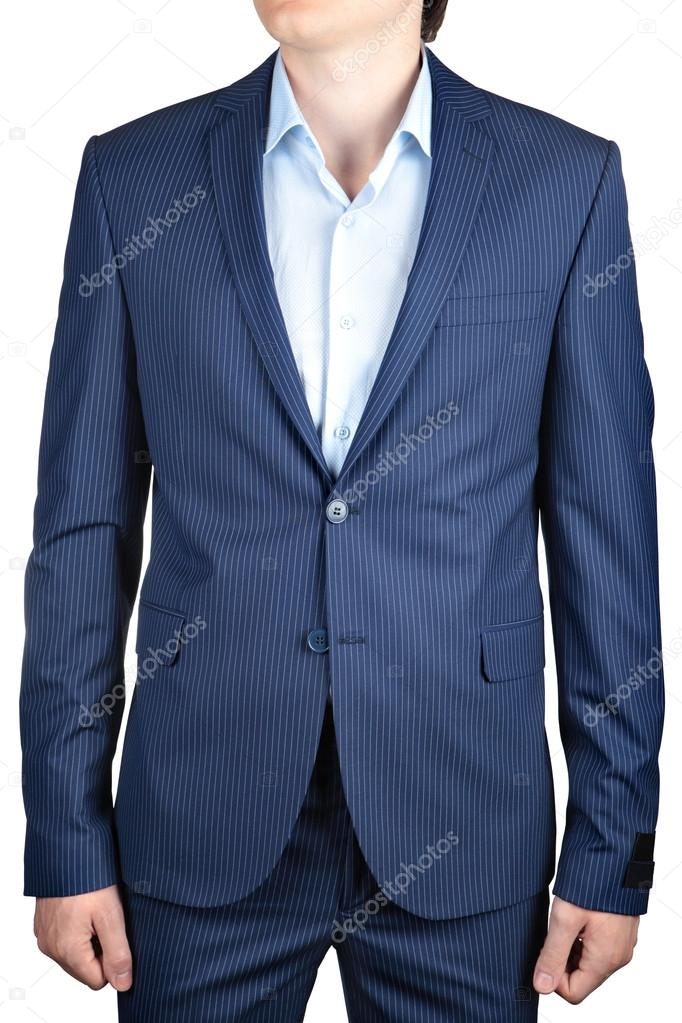 cerimonia uomo bianco o blu abiti casual su gessato Giacca Foto 86wRnYXw