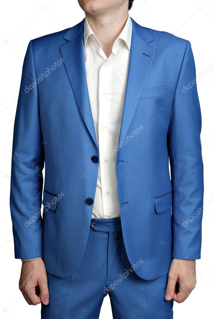 Чоловічий Світло синє Весільний костюм нареченого 02a1125a2445b