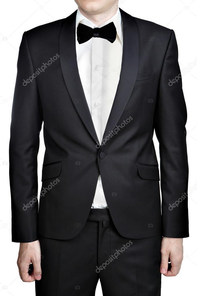 schwarze m nner hochzeit anzug jacke hemd und krawatte. Black Bedroom Furniture Sets. Home Design Ideas