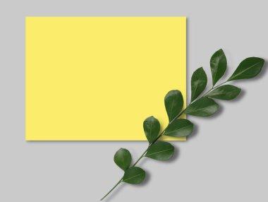 "Картина, постер, плакат, фотообои ""приглашение на открытку с желтой надписью "", артикул 457424628"