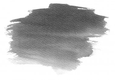 Abstract grey hand painted watercolor splash