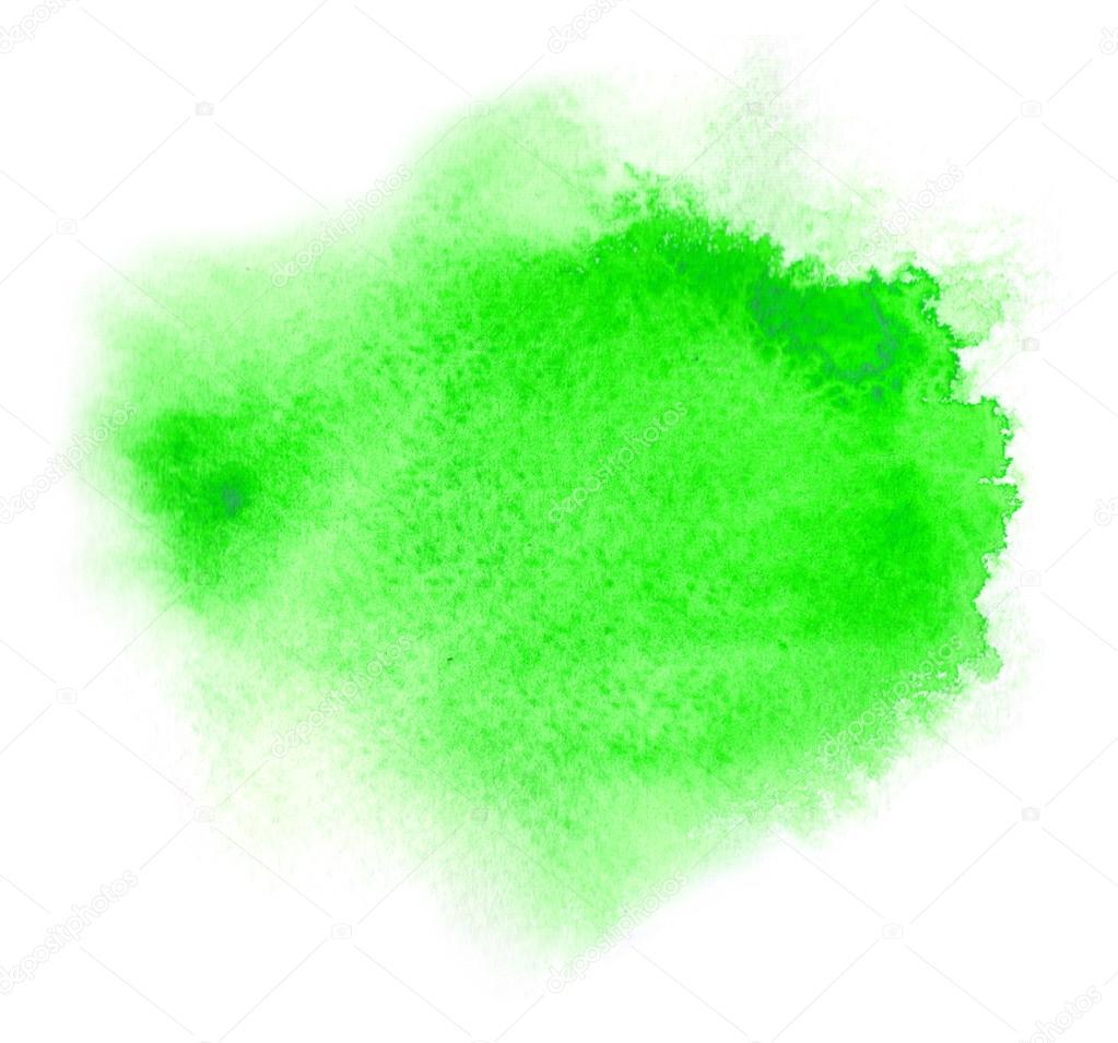 Tache d 39 aquarelle ou l 39 encre verte avec tache de - Vert eau peinture ...
