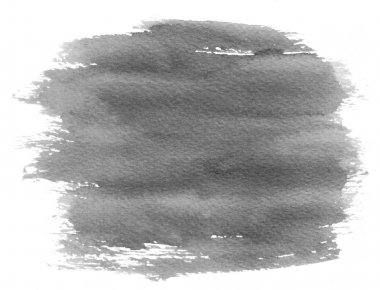 Gray watercolor spot