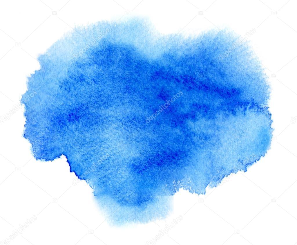 Mancha de acuarela o tinta azul con mancha de pintura de for Colores de pintura azul