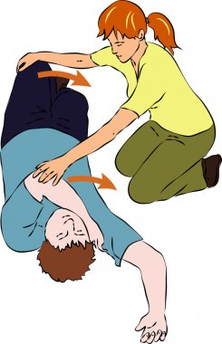 First aid - tumbling unconscious man