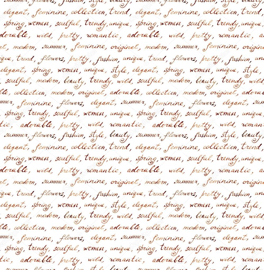 Vintage hand written letter - fashion and beauty seamless