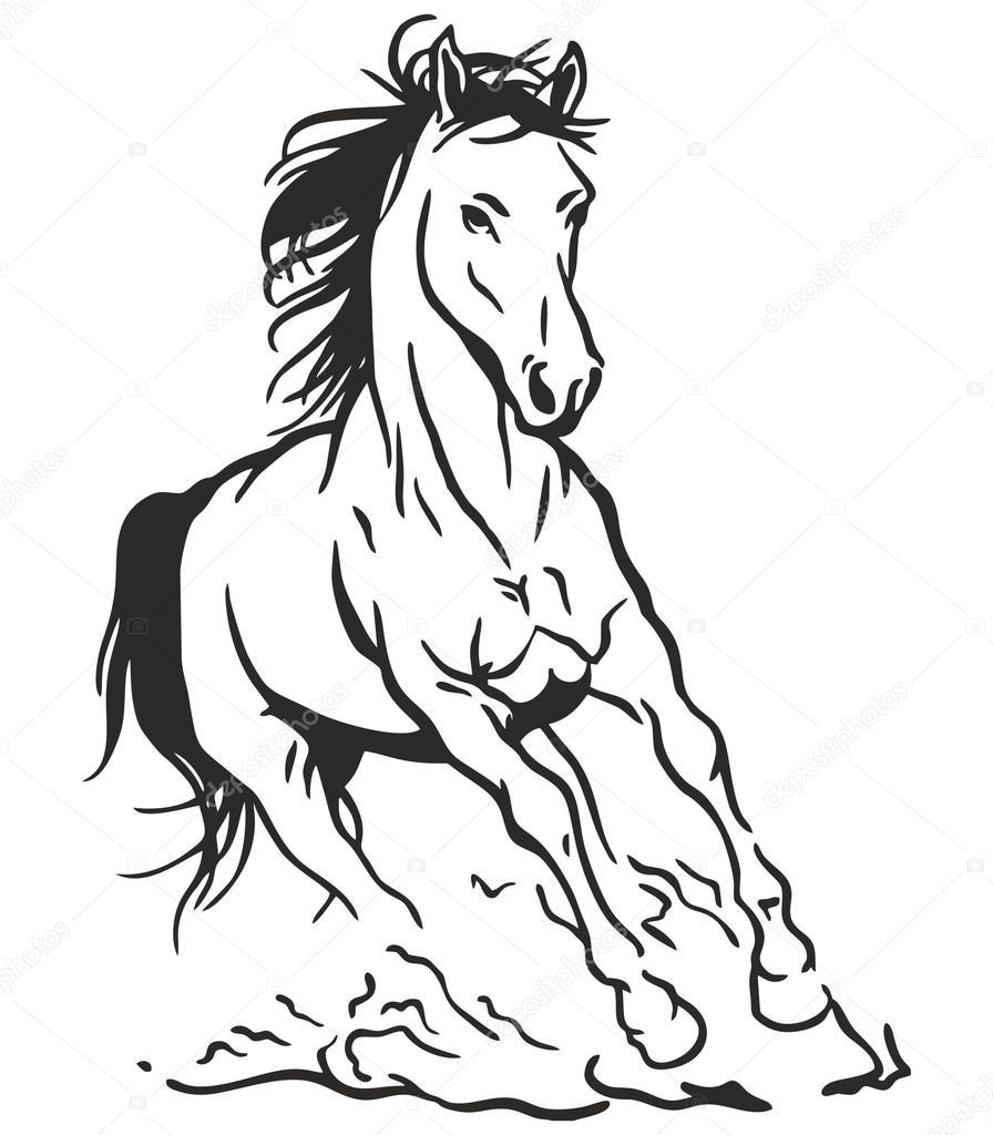 Vector Art corriendo caballo — Vector de stock © View360adv #67428449