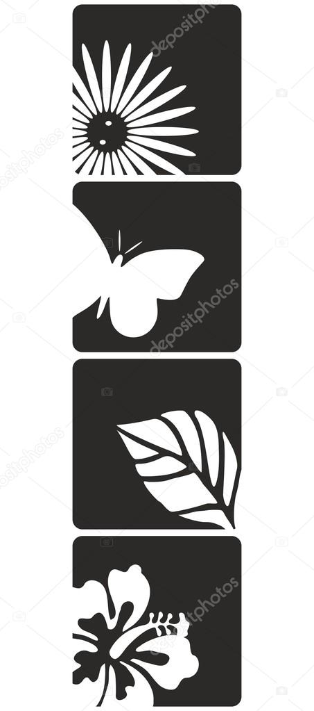 Flower Desing Vector Art Wall Decals
